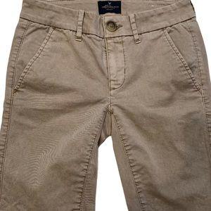 American Eagle Outfitters Khaki Bermuda Shorts 00